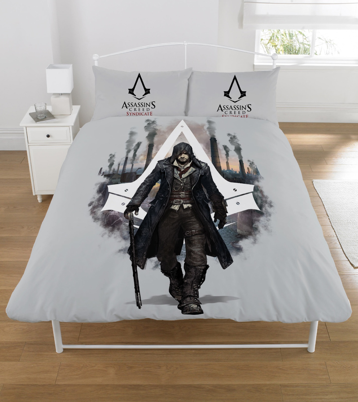 assassins creed syndicat double gar ons parure de couette housse de couette enfants literie. Black Bedroom Furniture Sets. Home Design Ideas