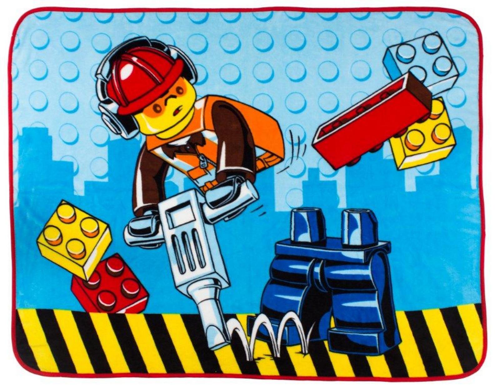 NEW LEGO CITY PREMIUM DESIGN CONSTRUCTION PANEL BLANKET