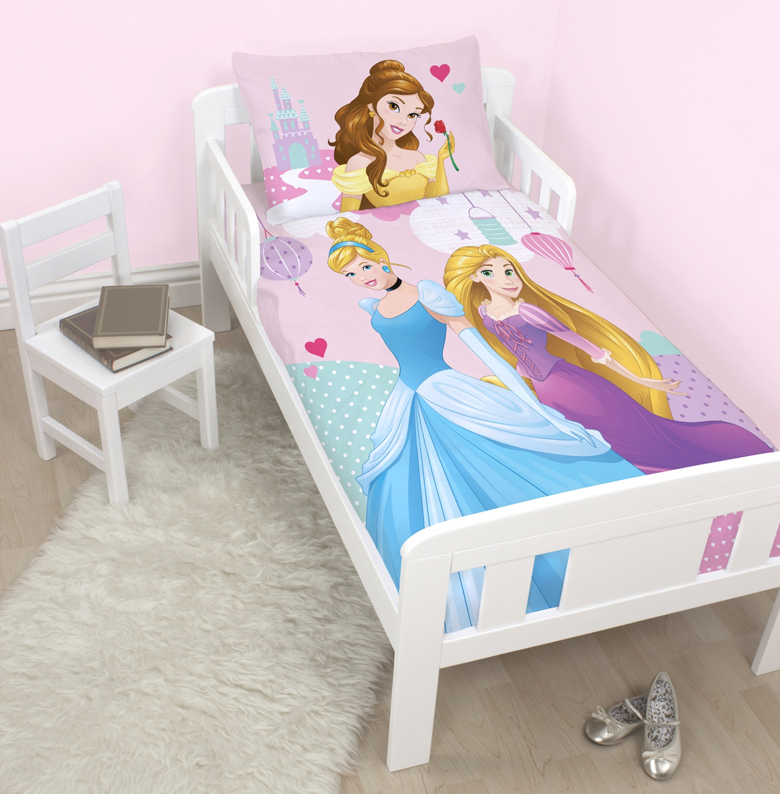 Disney princess 39 enchanteur 39 junior ensemble de housse de - Housse de couette 60x120 ...