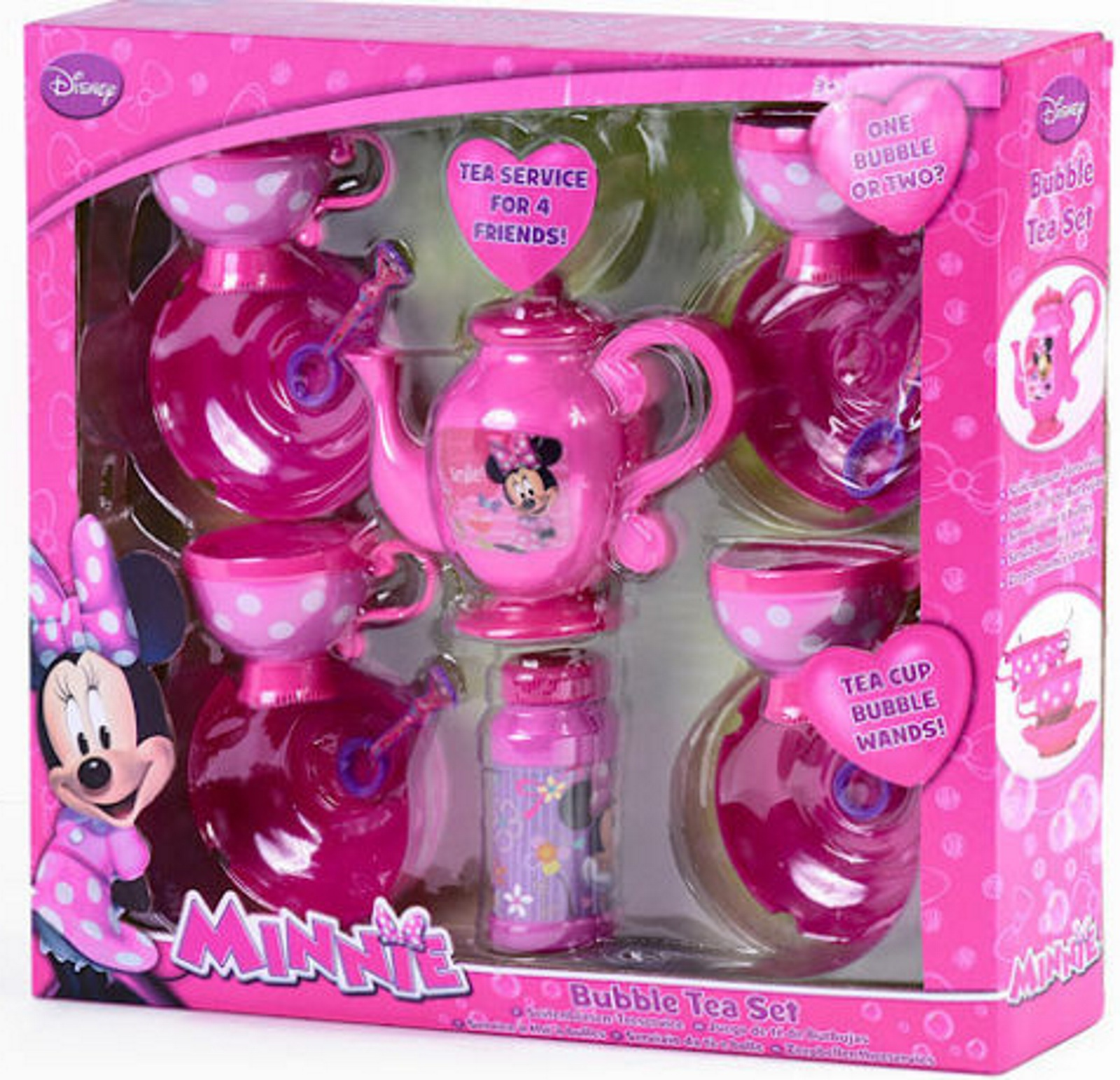 Disney Minnie Mouse Bubble Tea Set Girls Dinner Party Toy