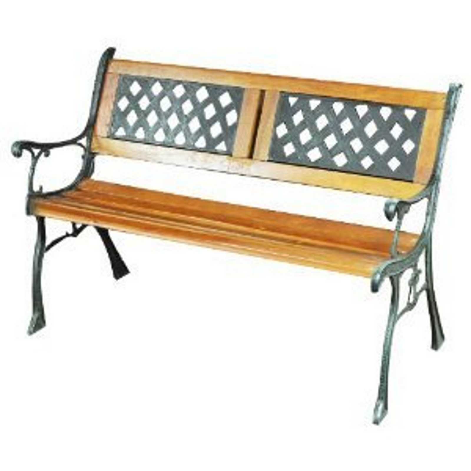 Kingfisher garden bench traditional wooden decorative cast iron 2 seater ebay Decorative benches