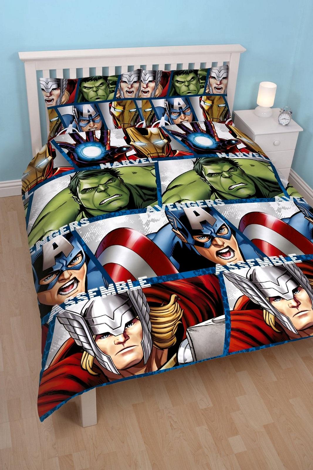 Marvel Avengers Shield Double Reversible Duvet Cover