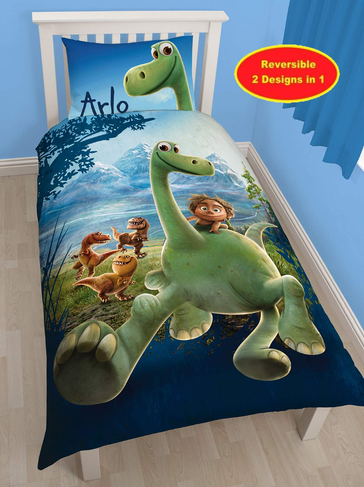 disney the good dinosaur arlo single duvet quilt cover bedding set reversible ebay. Black Bedroom Furniture Sets. Home Design Ideas