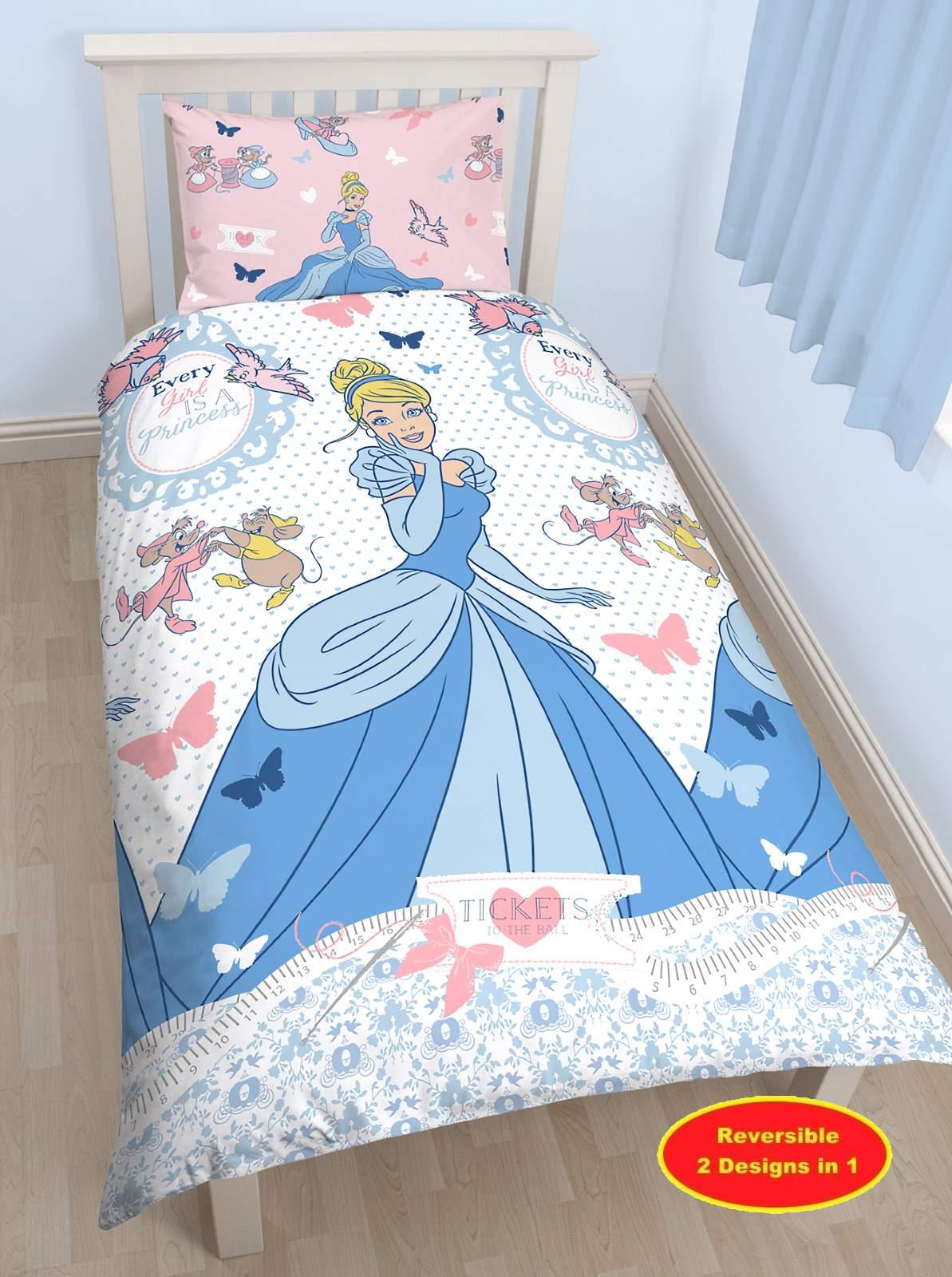Disney princess cendres lit simple housse de couette for Literie couette