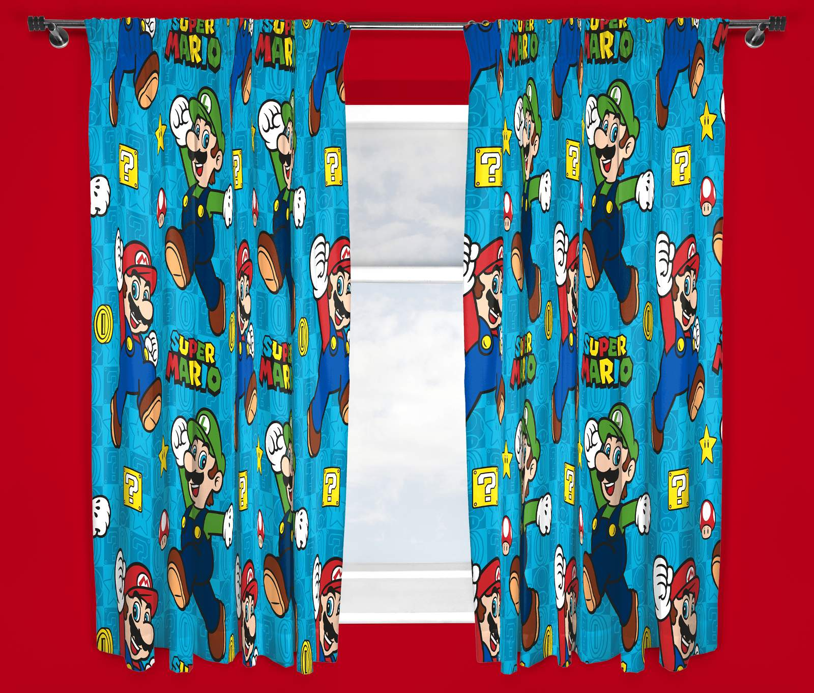 Nintendo Super Mario Brothers Games Childrens Curtains 66