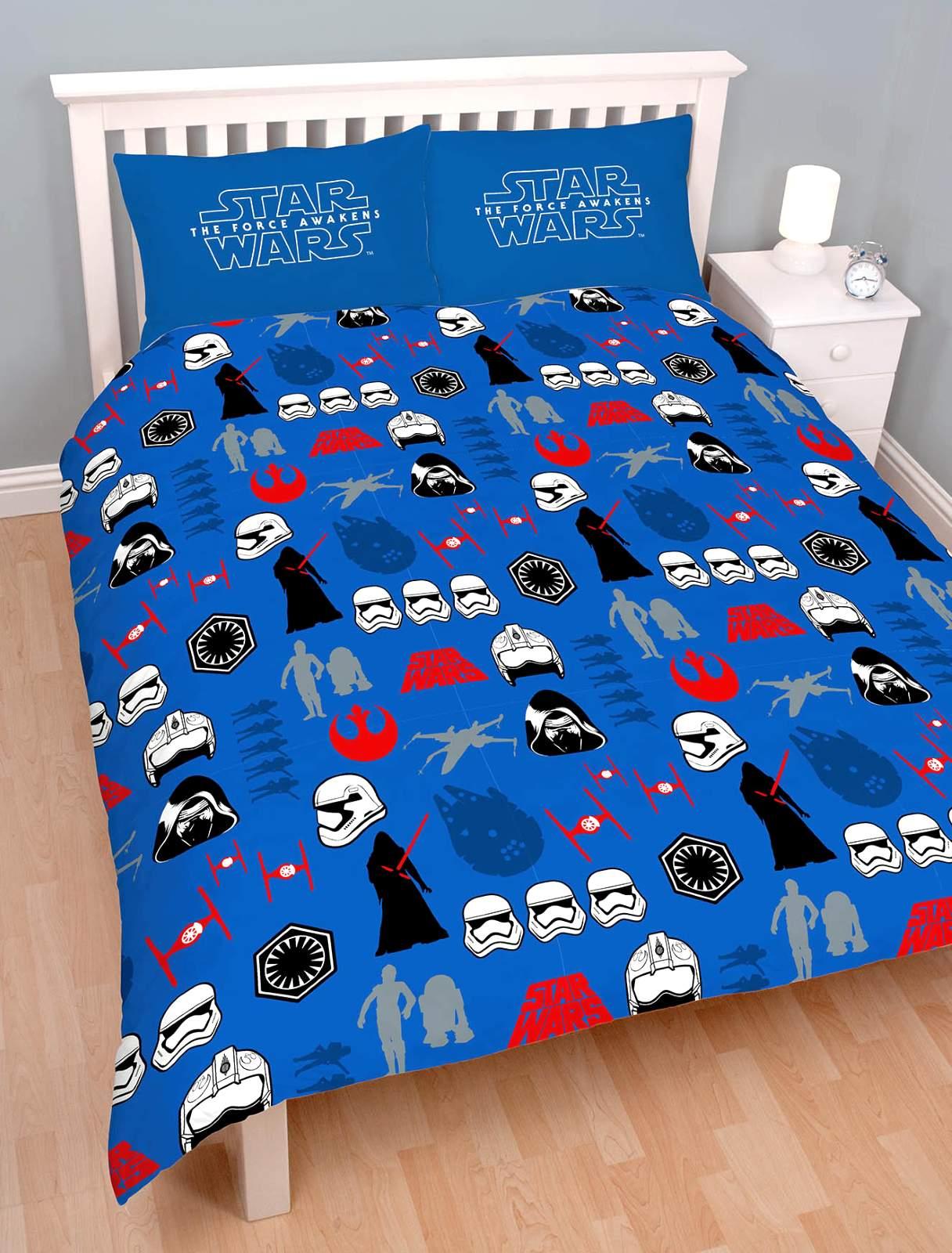star wars diviseur set couvre lit double la force awakensboys chambre d 39 enfant ebay. Black Bedroom Furniture Sets. Home Design Ideas