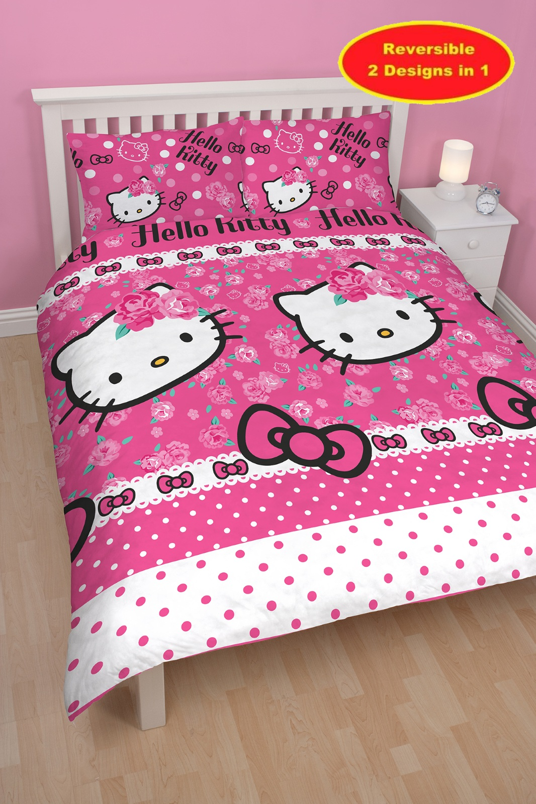 Hello kitty sommerwind doble colcha edred n y almohada - Cama doble para ninos ...
