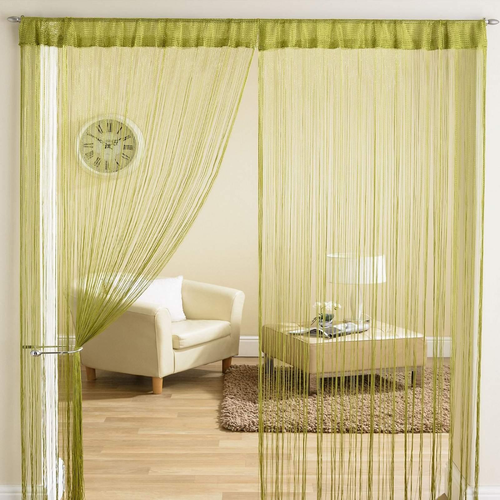 classique fil tassle frange panneau diviseur fen tre rideau de porte 90x200cm ebay. Black Bedroom Furniture Sets. Home Design Ideas