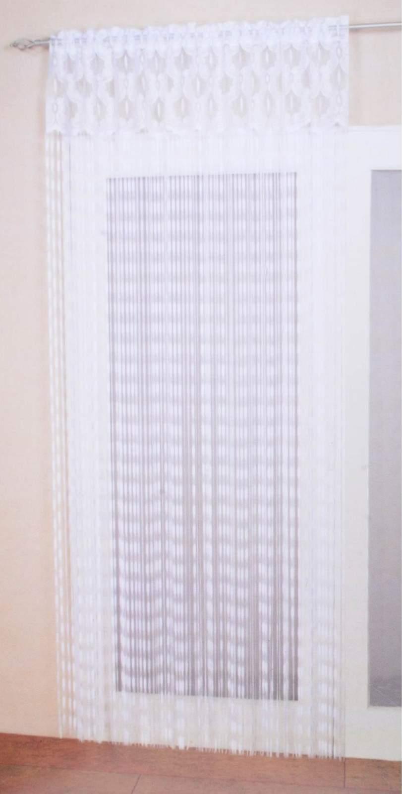 Odessa blanc fil panneau rideau blanc 150 x 240 cm pi ce for Porte fenetre en anglais