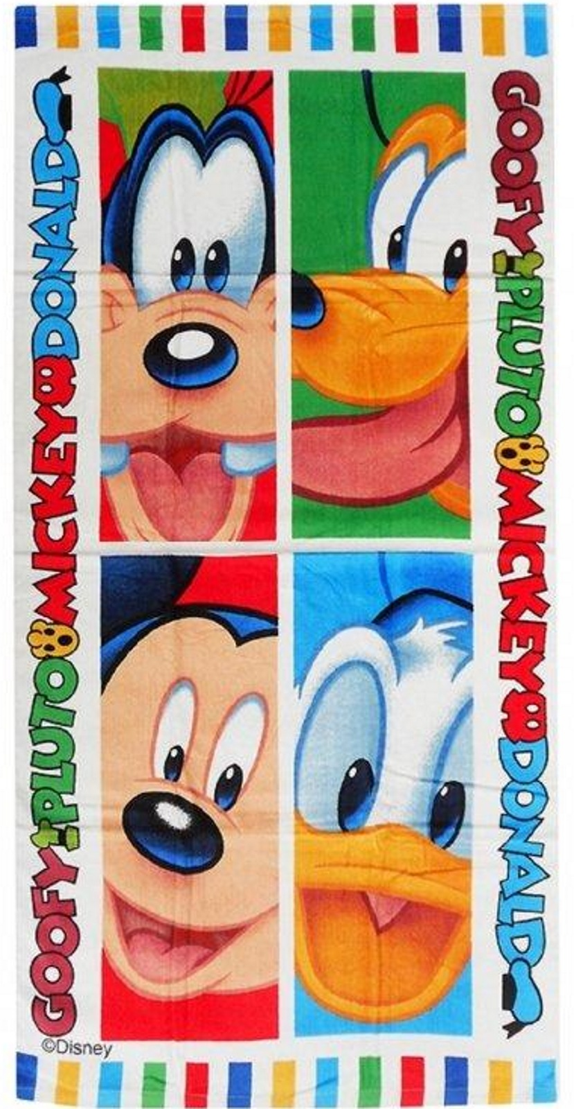 disney mickey mouse maison de jeux goofy serviette de bain de plage coton ebay. Black Bedroom Furniture Sets. Home Design Ideas