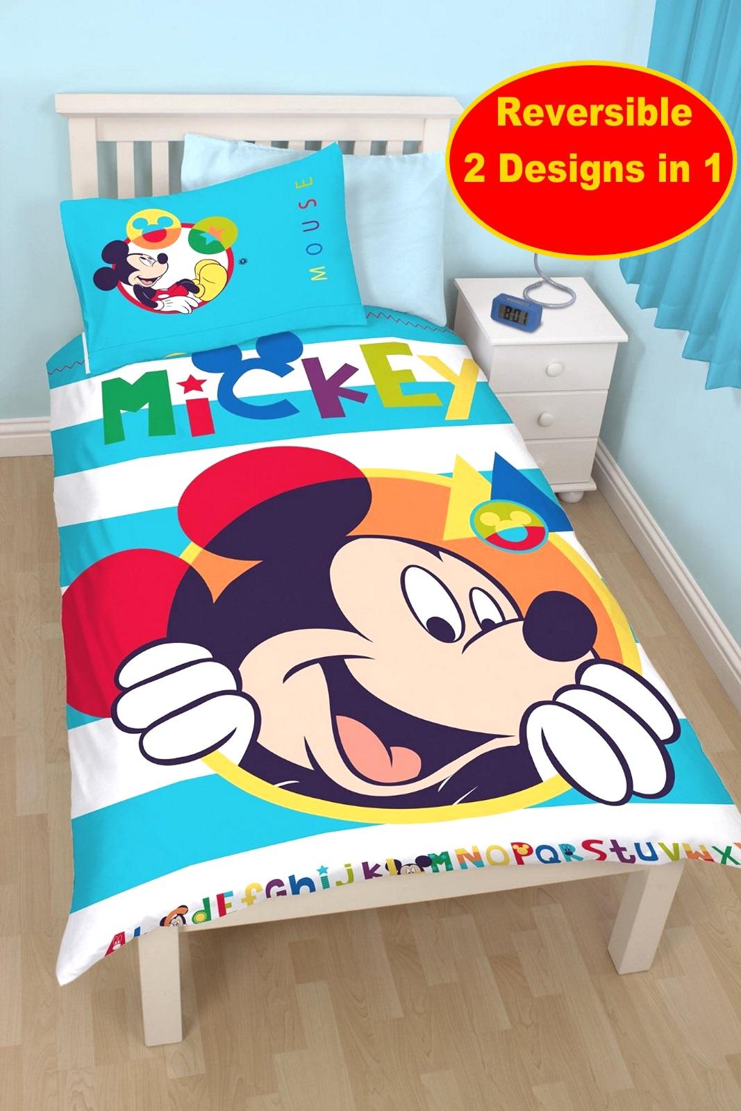 micky maus boo einzeln bettdecke bettbezug set mit zappar. Black Bedroom Furniture Sets. Home Design Ideas