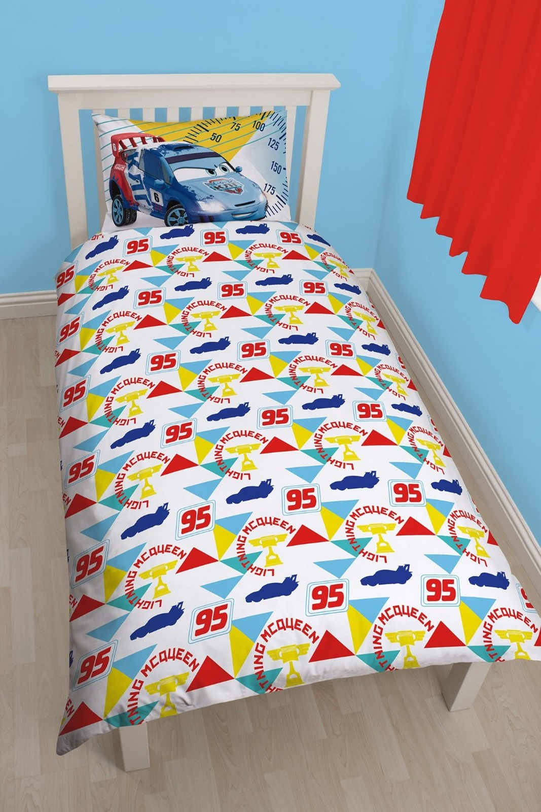 new disney cars champ single duvet quilt cover set boys bedroom kids
