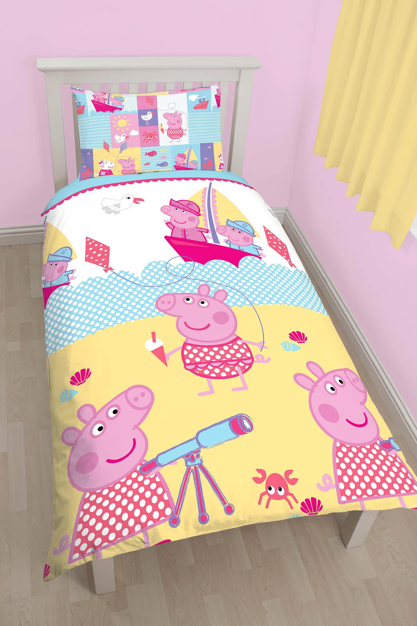 New Peppa Pig Nautical Single Duvet Quilt Cover Bedding