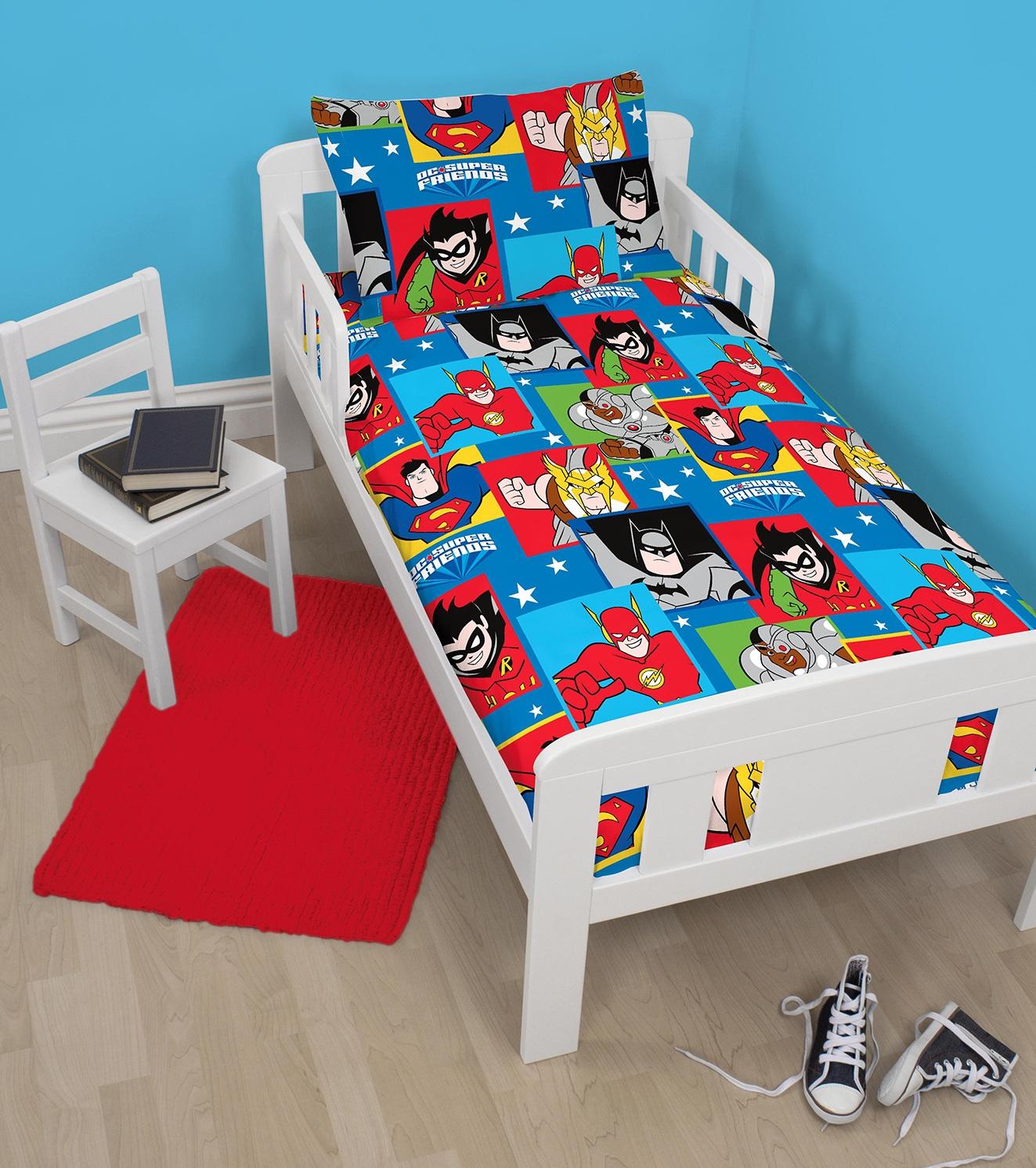 Dc Comics Super Friends Junior Toddler Cot Bed Duvet