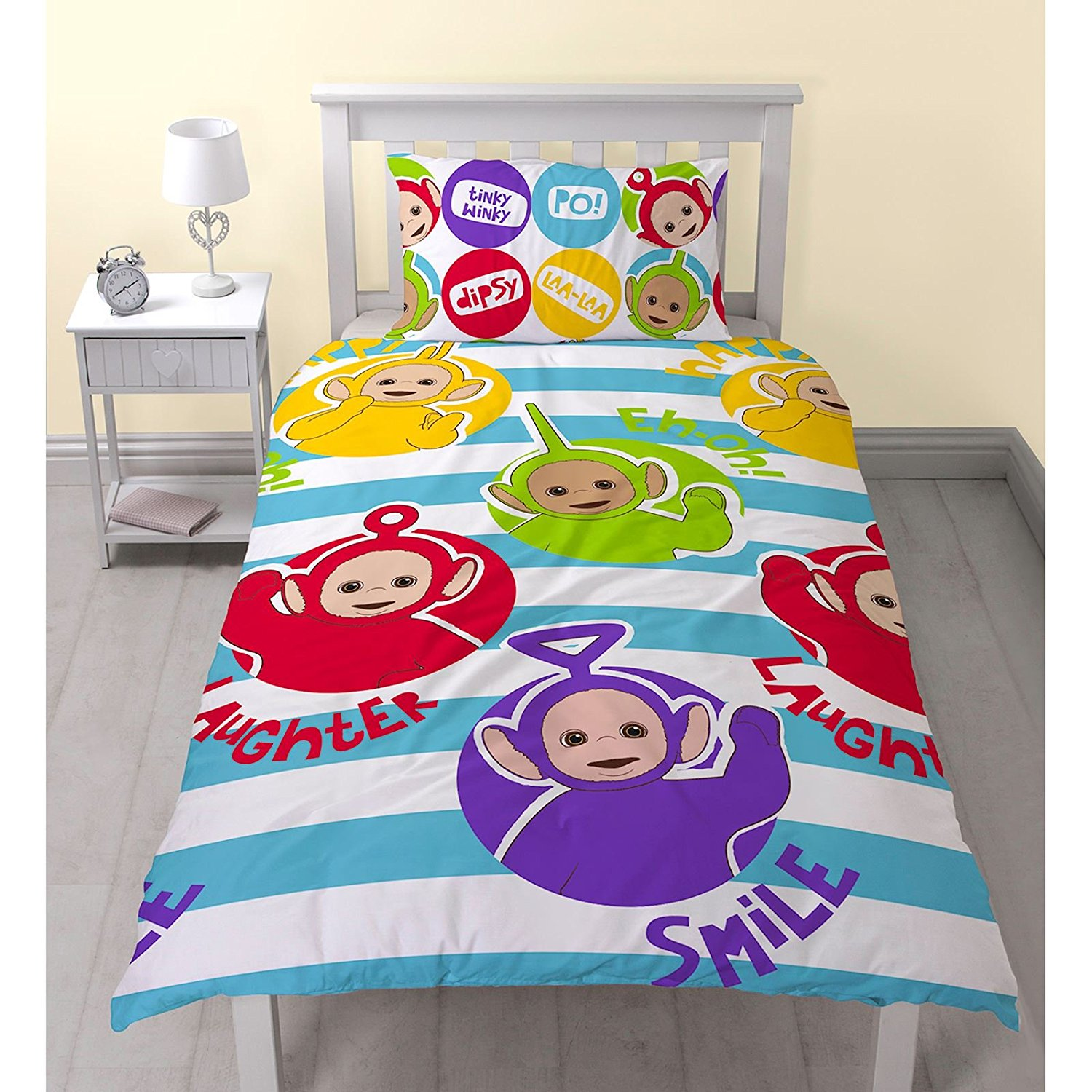 NEW TELETUBBIES 'PLAYTIME' SINGLE DUVET QUILT COVER SET ...
