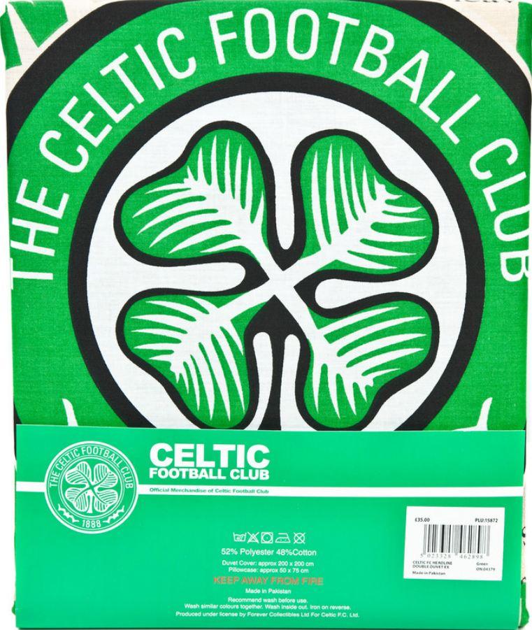 New Celtic Fc Double Duvet Quilt Cover Set Boys Kids Fans