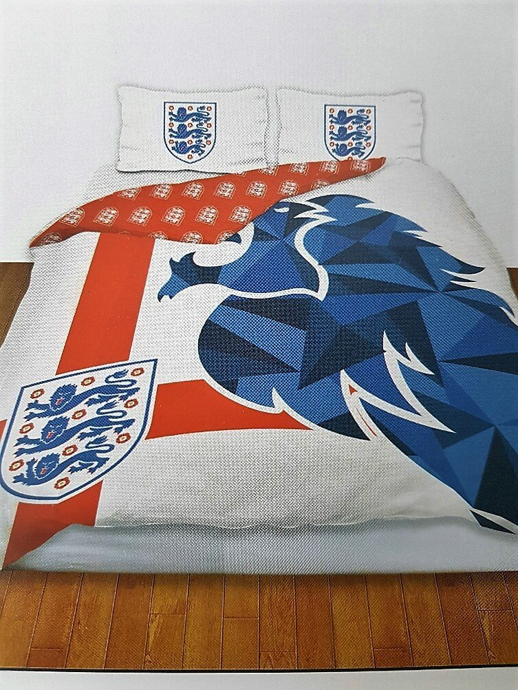 England quipe de football 39 de lion double ensemble for Ensemble housse de couette