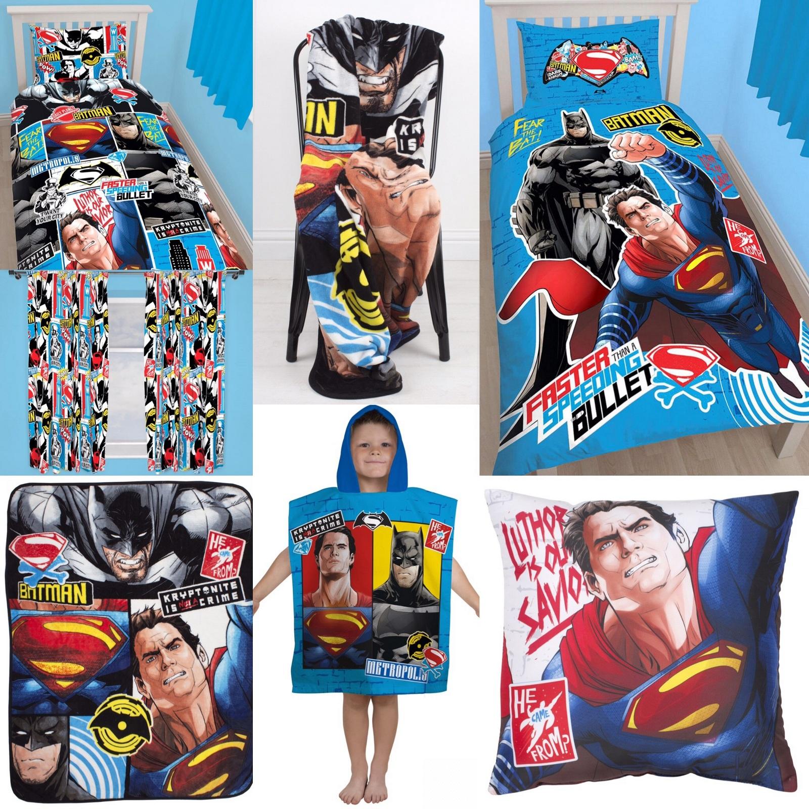 Batman vs superman quot clash design quot bedroom accessories you choose 1 or
