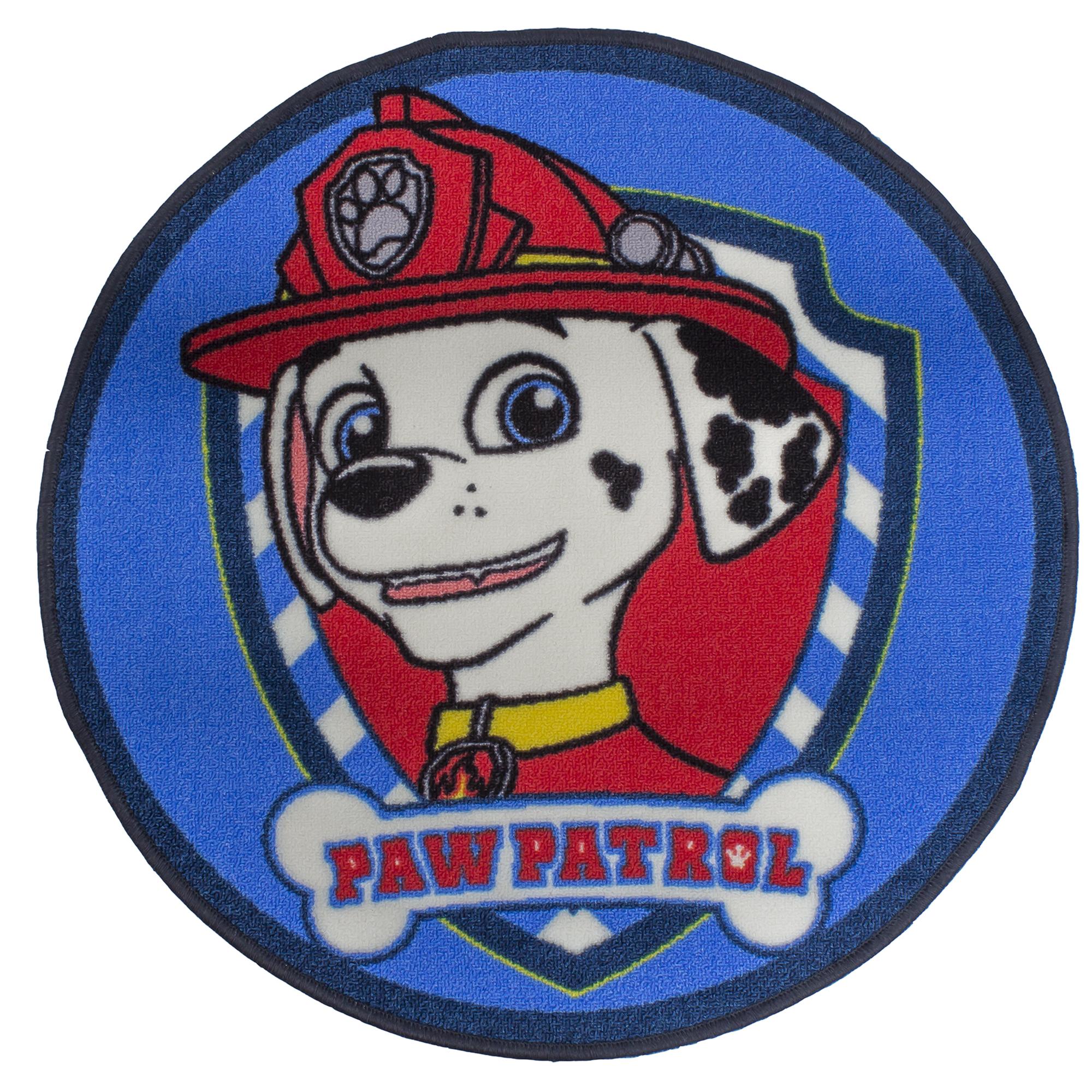 PAW PATROL U0027PAWSOMEu0027 DESIGN SHAPED RUG