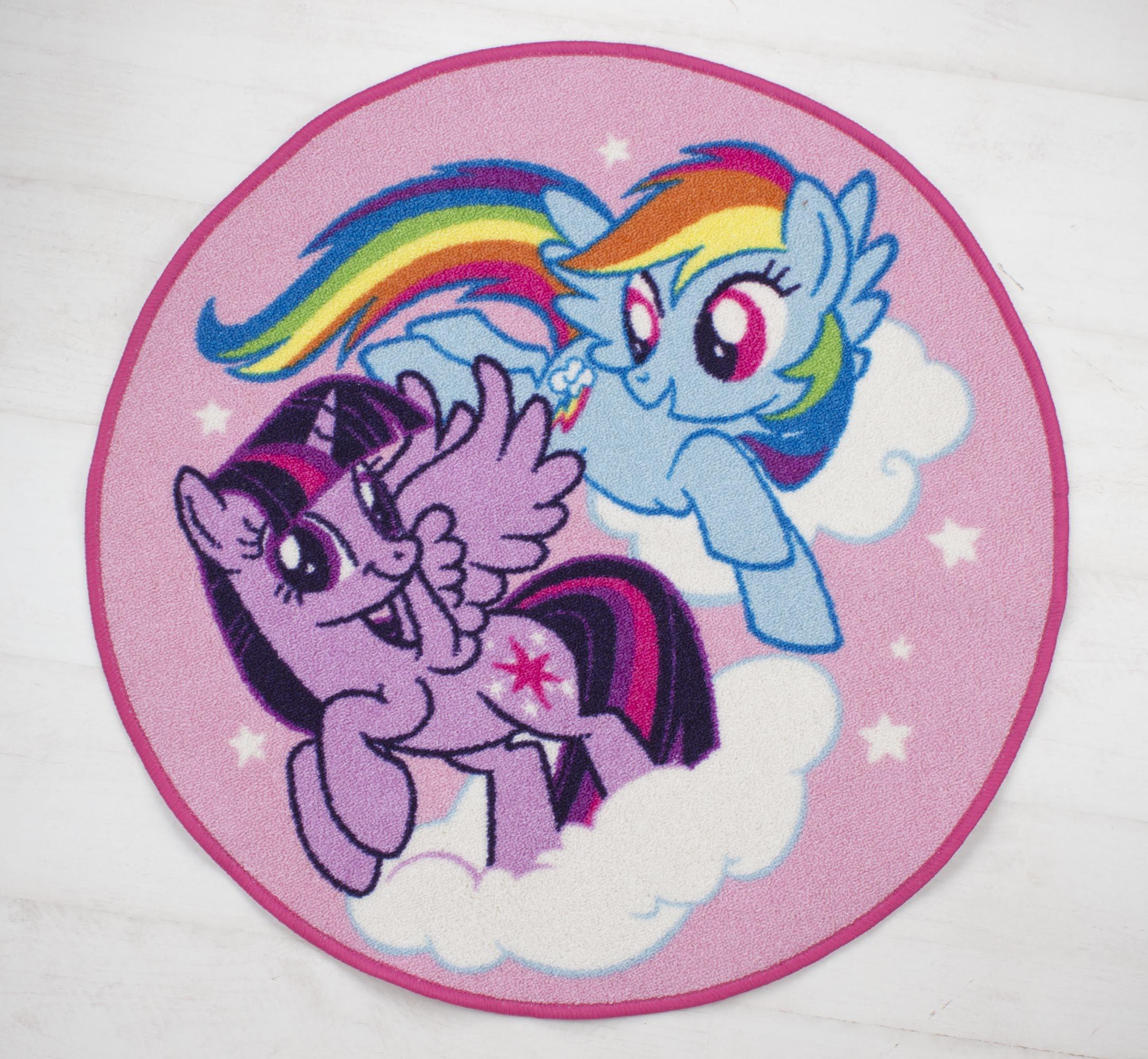 New My Little Pony Equeatrian Rug Girls Kids Pink Bedroom