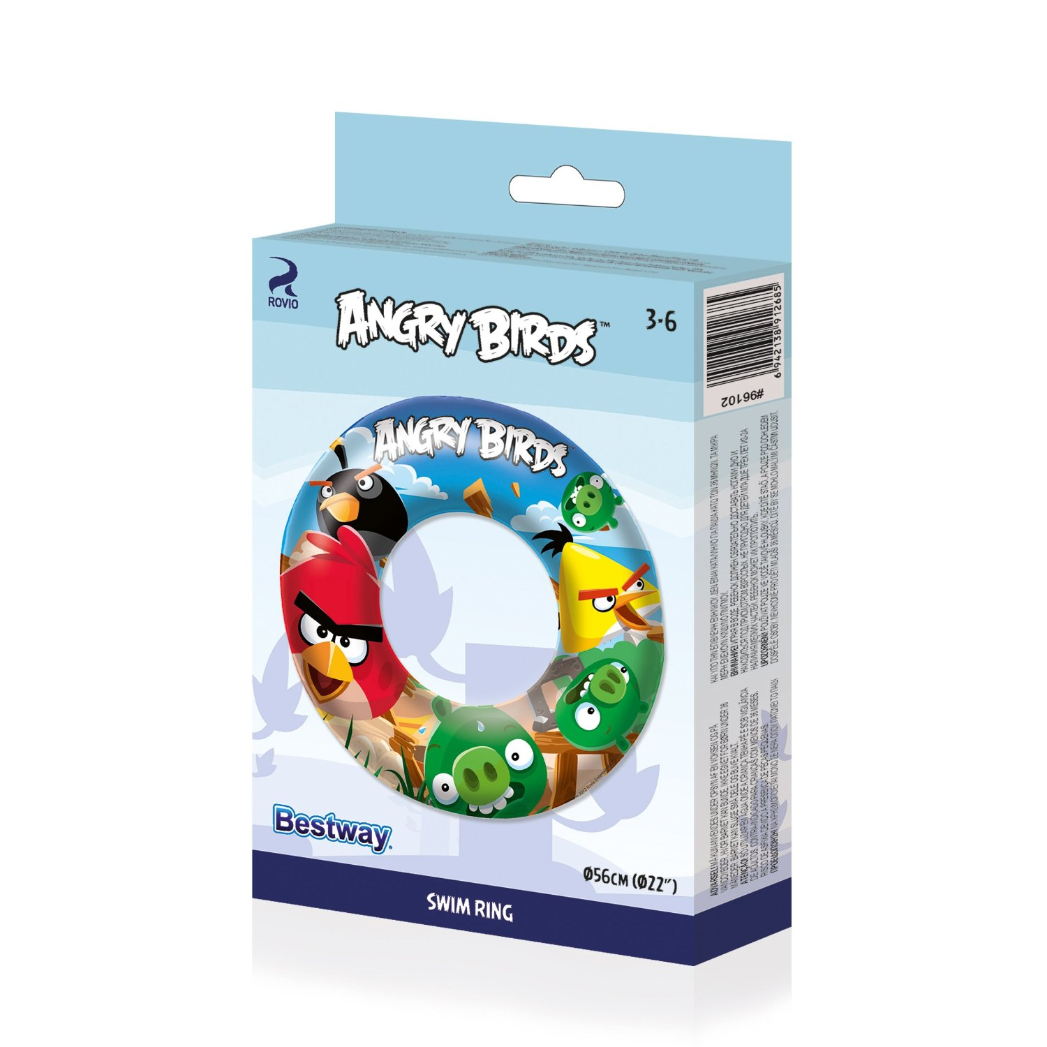 New Angry Birds Design Inflatable Swimming Ring Kids Boys