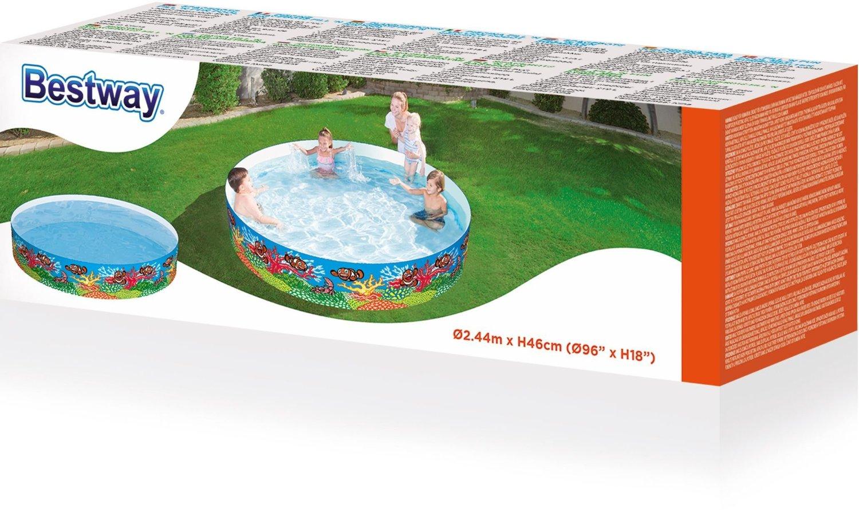 Large new bestway kids fill n fun swimming paddling for Rigid paddling pool