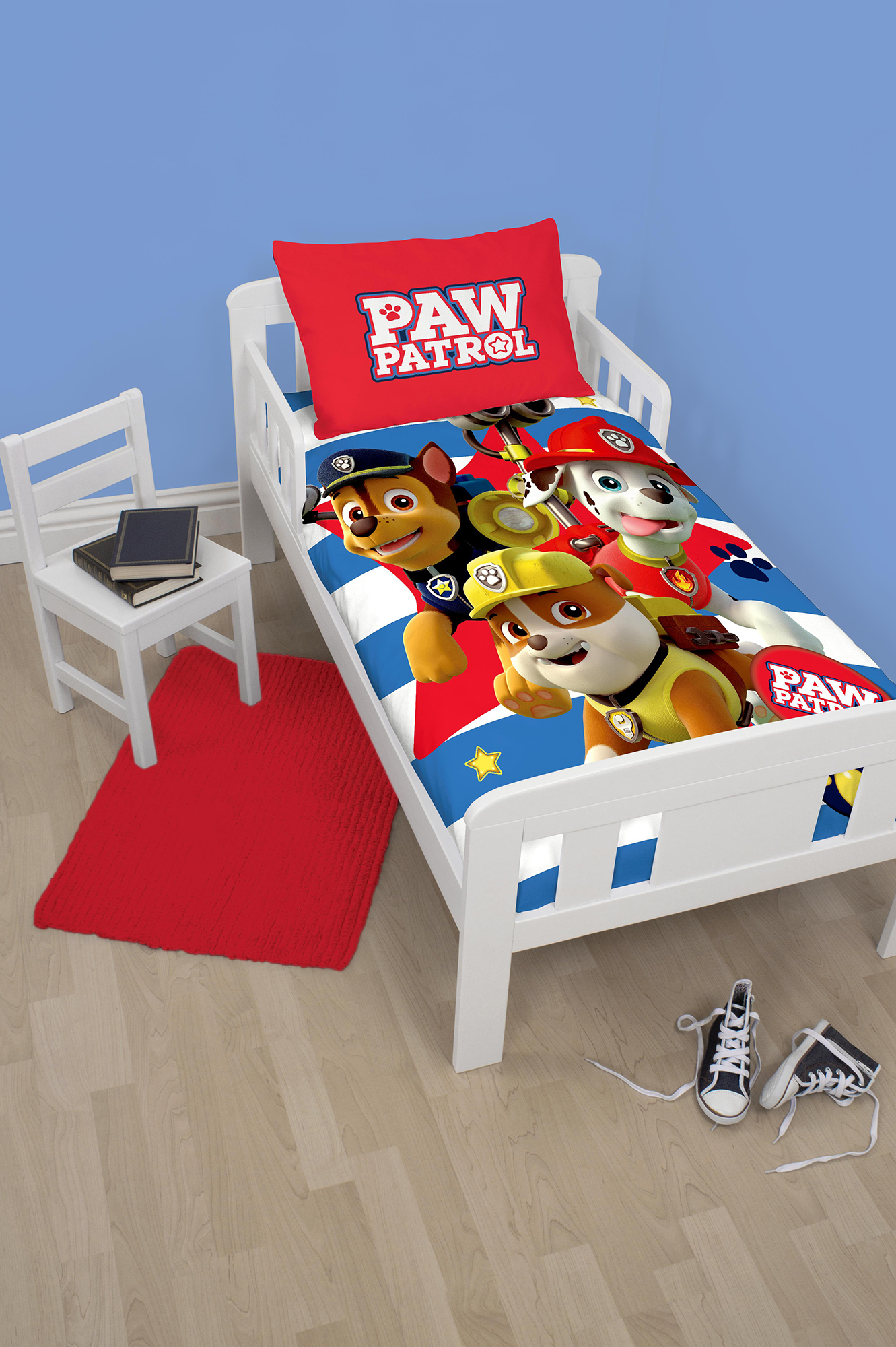 New Paw Patrol Pawsome Junior Toddler Cot Bed Size Duvet