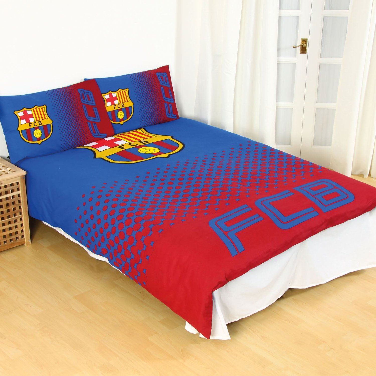 Barcelona Fc Fu 223 Ballverein Doppelbett Bettbezug Set Kinder