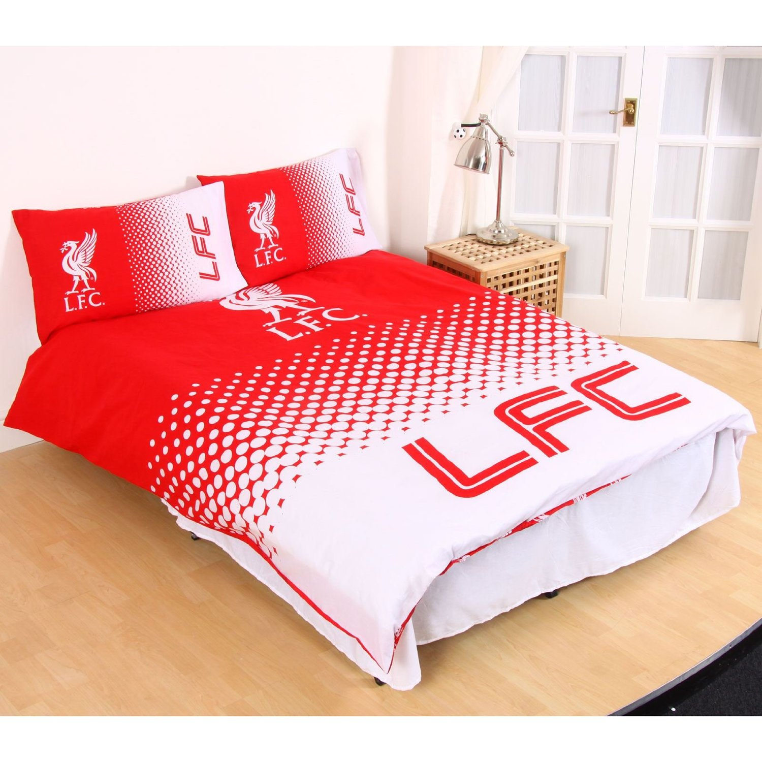 New Liverpool Football Club Fade Double Duvet Quilt Cover