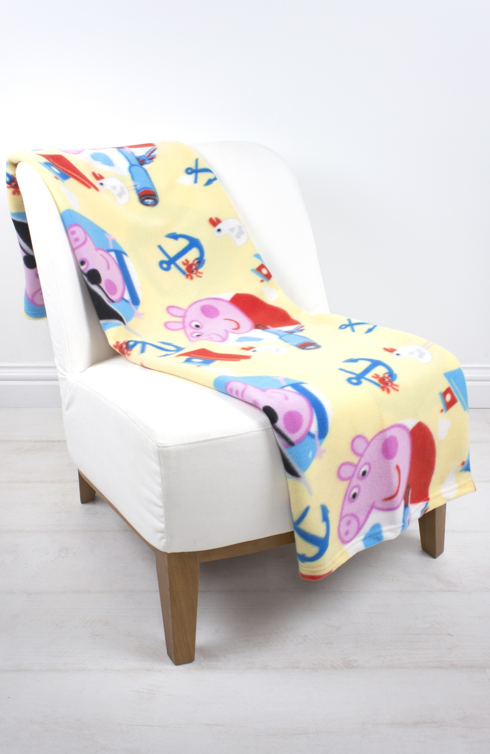 Extra Large Peppa Pig 39 Ocean 39 Fleece Blanket Sofa Throw