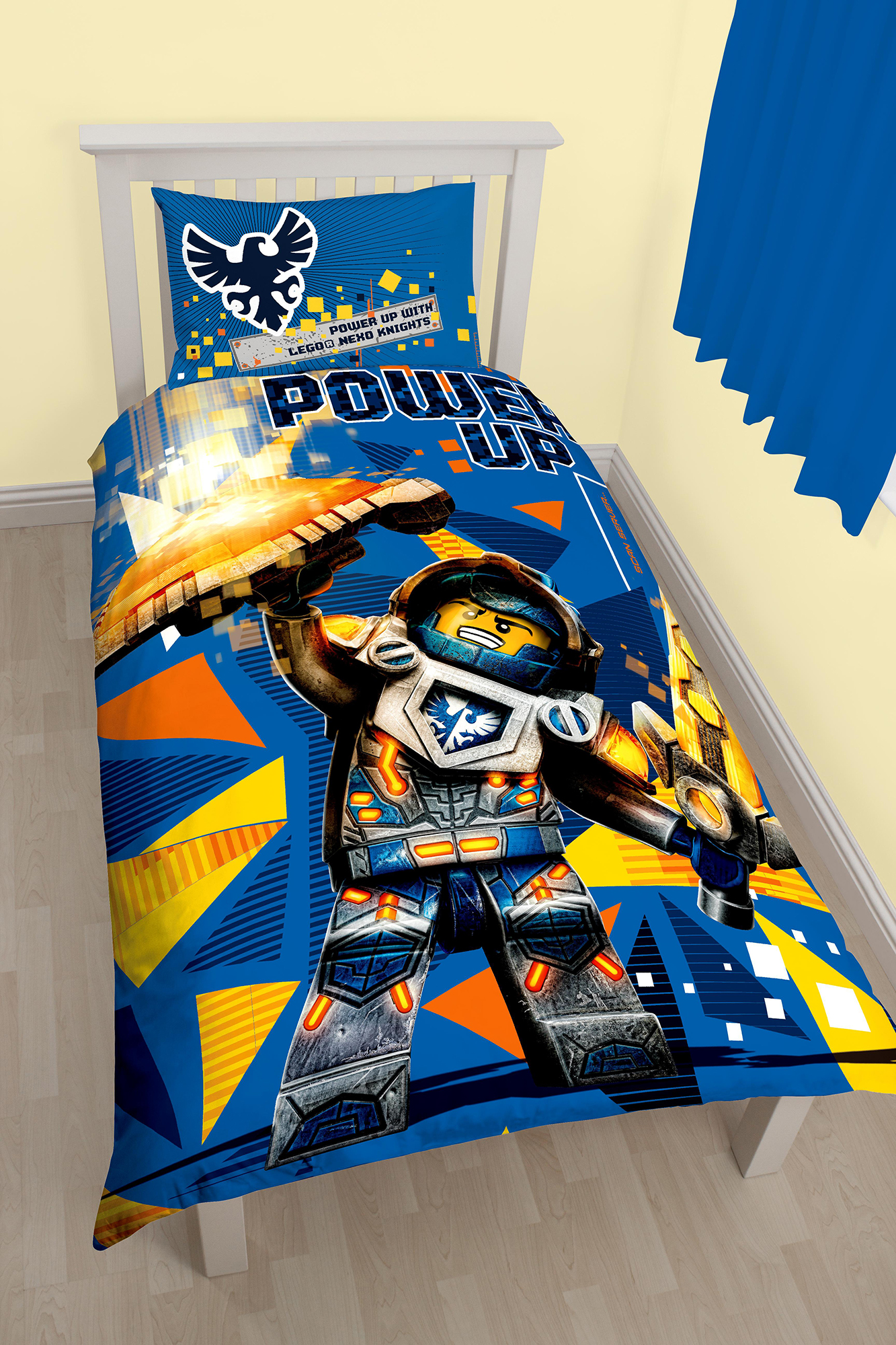 Lego Nexo Knights Power Single Duvet Quilt Cover Set Boys