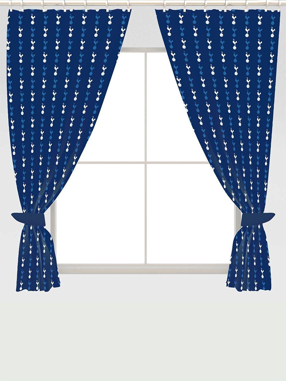 New tottenham hotspur curtains pair 66 x 54 inch boys for Crest home designs curtains