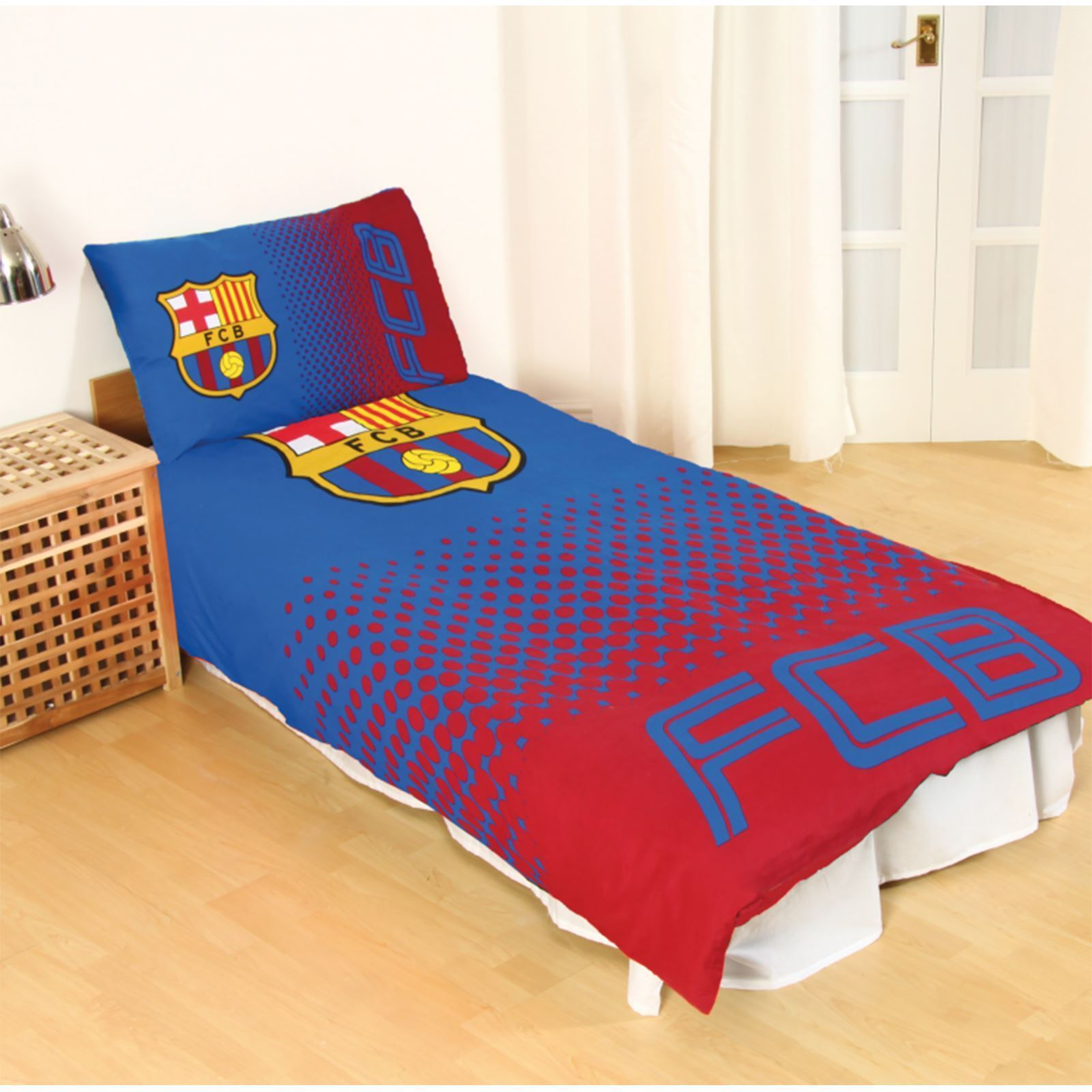 Barcelona 39 d grad 39 simple ensemble housse de couette gar ons enfants football ebay - Housse de couette barcelone ...