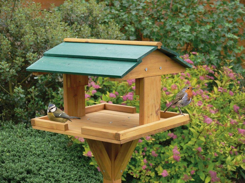Kingfisher Wooden Bird Table Garden Birds Feeder Feeding