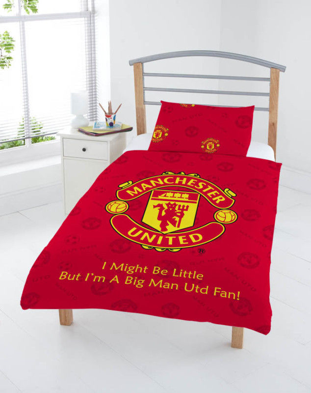 Junior Toddler Cot Bed Size Manchester United Football
