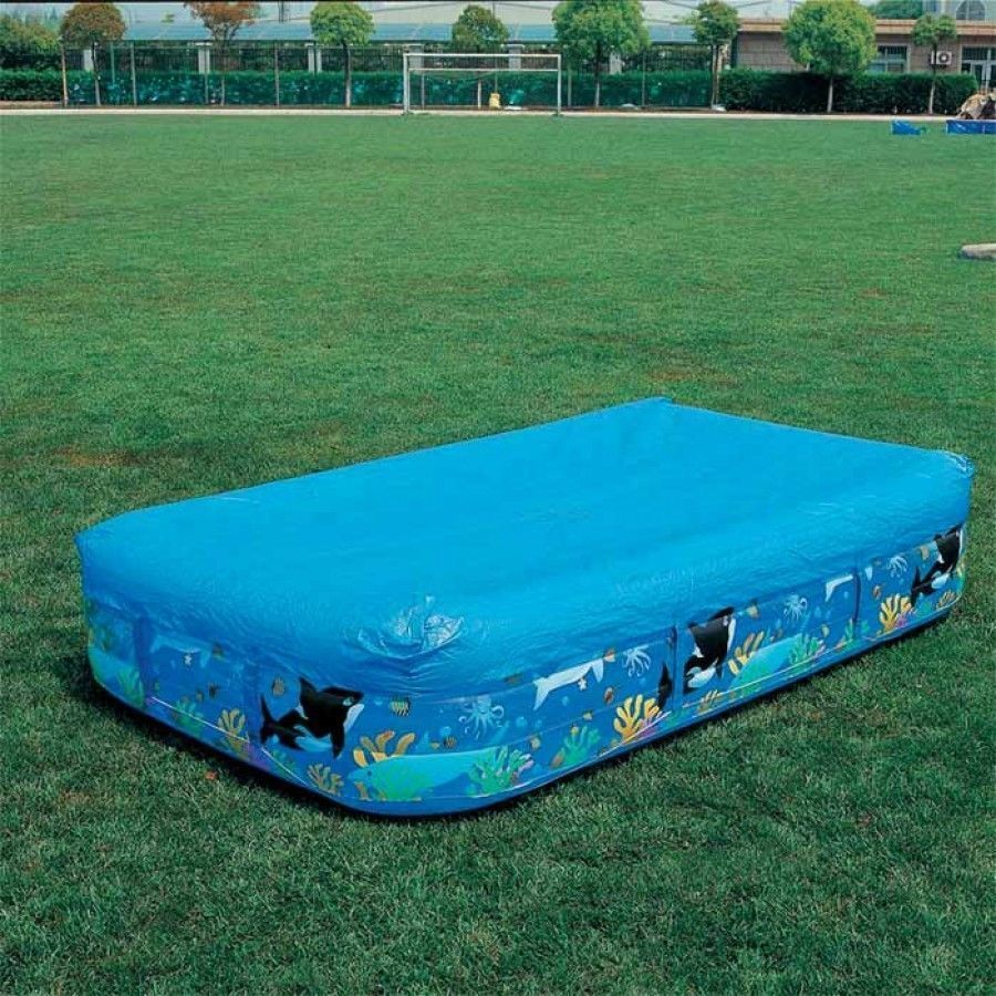 Bestway flowclear rectangular family swimming paddling pool cover 10ft ebay for 10ft swimming pool with pump and cover
