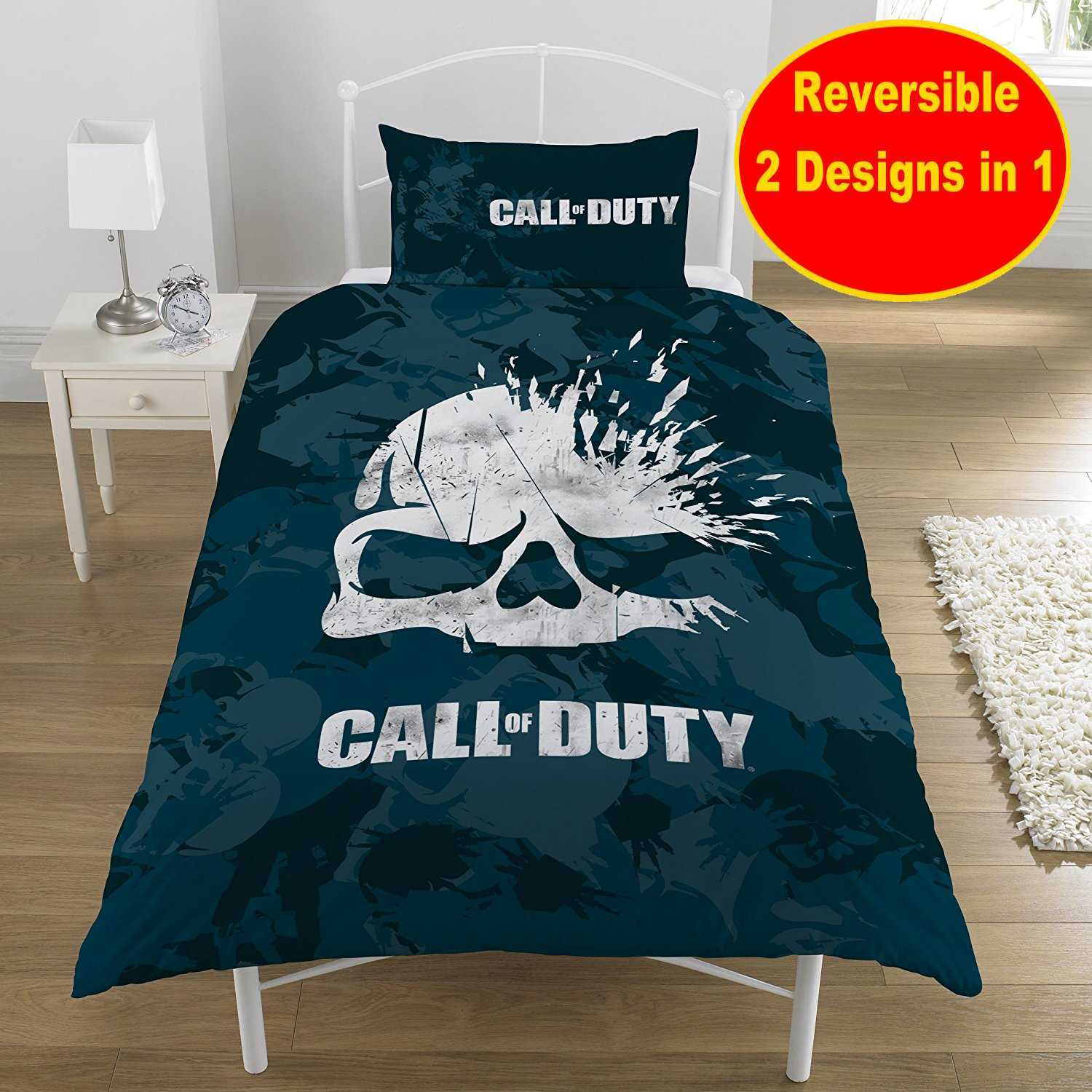 New Call Of Duty Cod Skull Game Single Duvet Quilt Cover