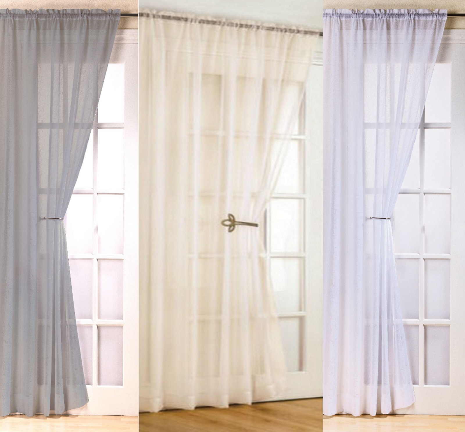 Luxury FIJI Voile Curtain Blind Door Panel 48u0026quot; 54u0026quot; 72u0026quot; 90u0026quot; Ready Made to Hang